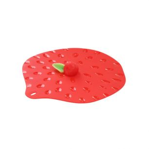 Deksel siliconen strawberry (23 cm)
