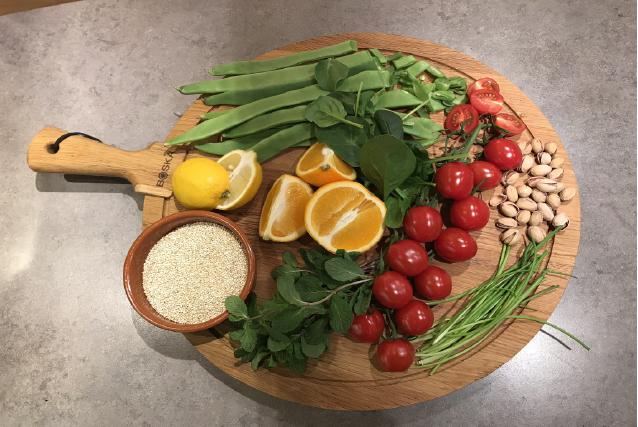 Wintersalade met quinoa