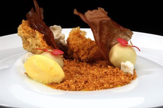 Hazelnoot-citroen dessert