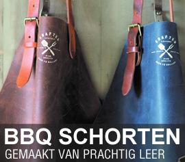 Lederen bbq schorten van Brinkmans Kookwinkel