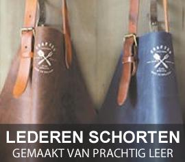 Lederen schorten van Brinkmans Kookwinkel